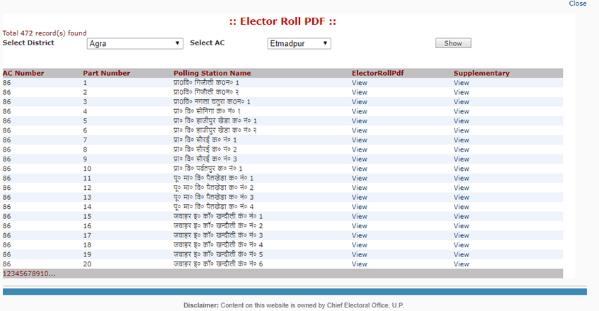 voter list3