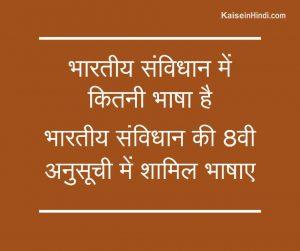 भारतीय संविधान में कितनी भाषा है